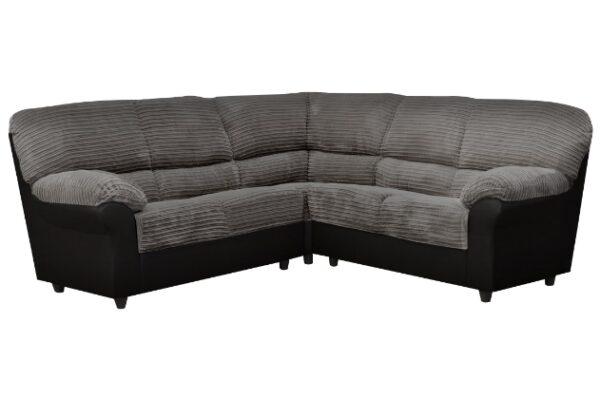 Candy Corner Sofa in Black/Grey Fabric