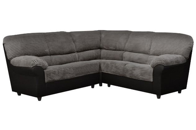 Candy Corner Sofa in Black/Grey Fabric