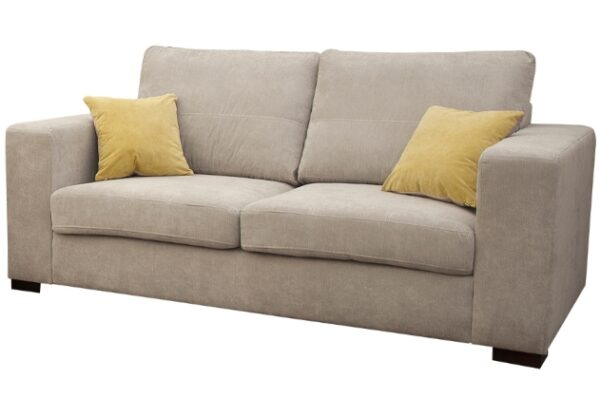 melody sofa fabric 3 seater in cream