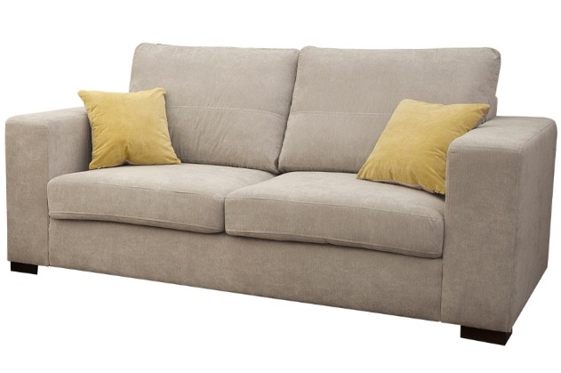 melody sofa fabric 3 seater in cream