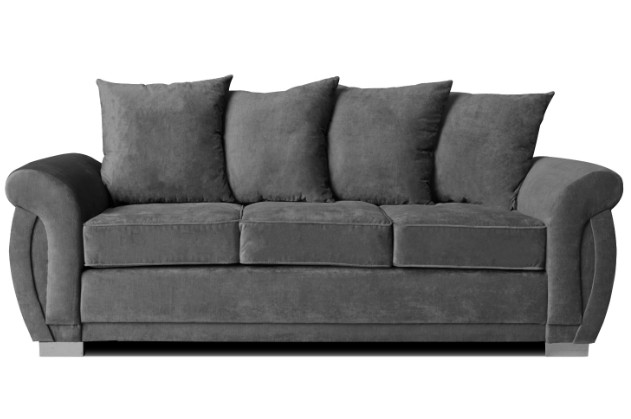 molly 3 seater graphite fabric