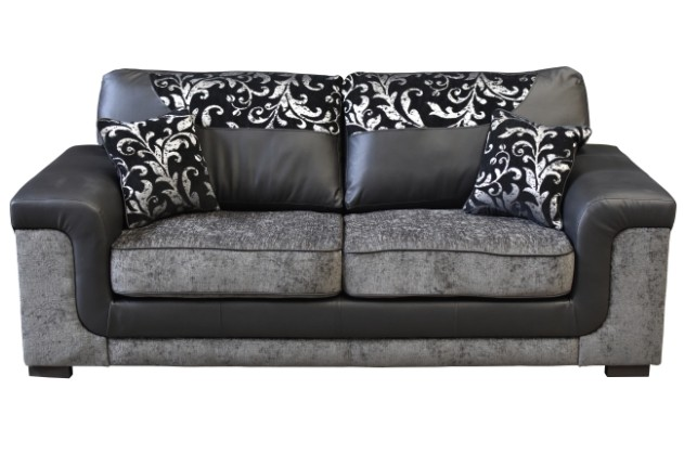 symphony 3 seater black/grey