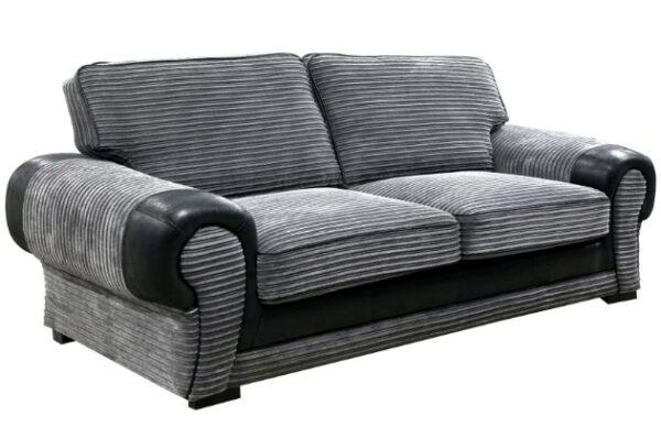 Tango 3 seater grey/black fabric