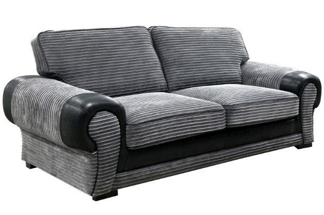 Tango 3 seater grey/black fabric