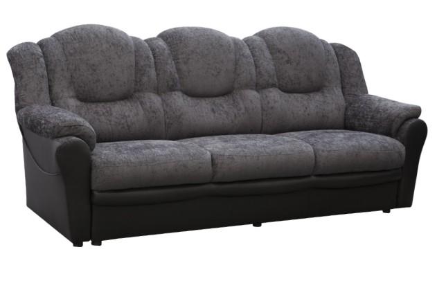 texas 3 seater fabric grey/black